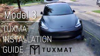Tuxmat Installation on a Tesla Model 3