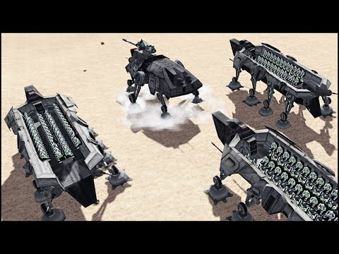 HUGE CLONE TROOP TRANSPORTS – Star Wars: Galaxy at War Mod Gameplay