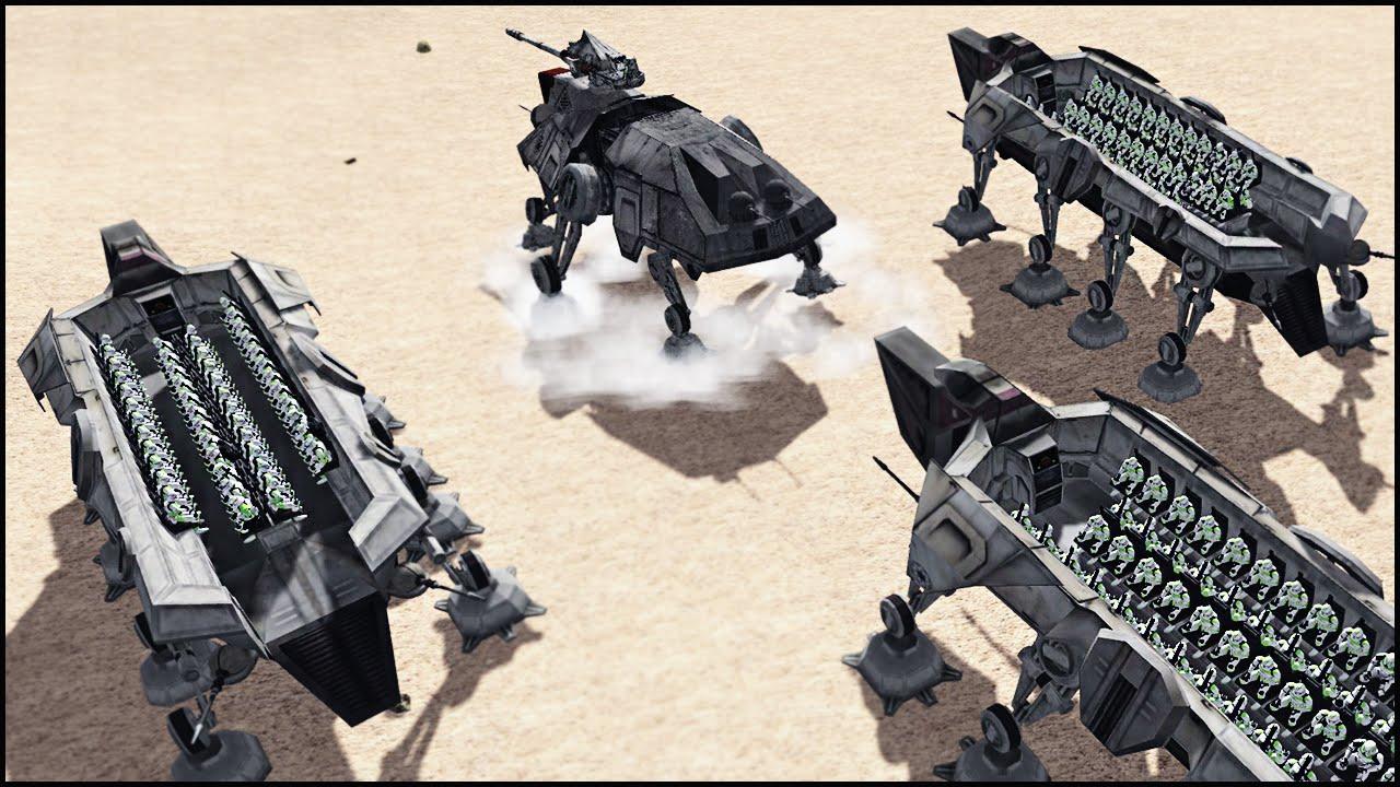 HUGE CLONE TROOP TRANSPORTS - Star Wars: Galaxy At War Mod ...