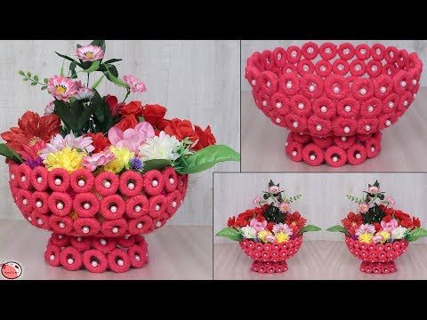 Newspaper Craft... || DIY Basket Making for Flowers || Handmade Craft