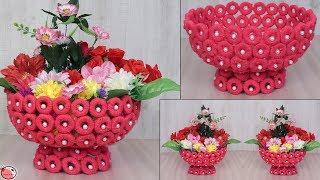 Newspaper Craft... || DIY Basket Making for Flowers || Handmade Craft