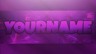 FREE FORTNITE YOUTUBE BANNER TEMPLATE PSD!!! (SPEED ART) 🔥🔥🔥