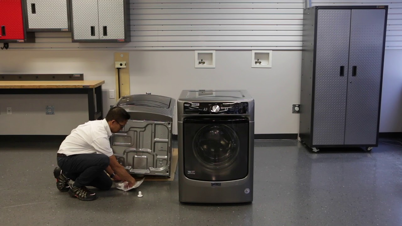 How To Install The Stacking Kit For Your Maytag Laundry Machines Youtube