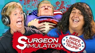 DONALD TRUMP GAME | Surgeon Simulator DLC (Adults React: Gaming)