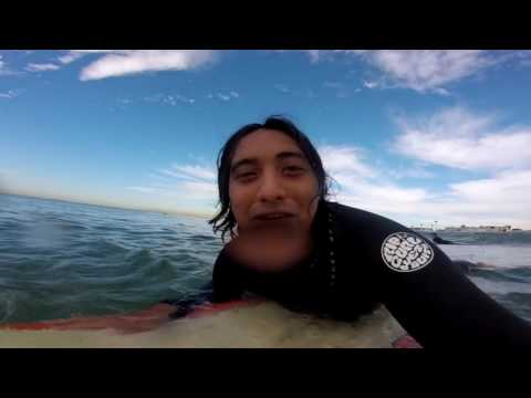 FIRST TIME SURFING WITH THE GOPRO PLUS LCD!!!