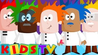 Five Mad Scientists | Nursery rhymes with actions for children | Kids TV
