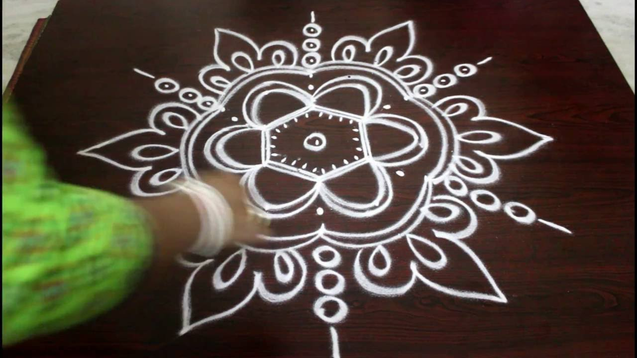 navaratri kolam with 5 to 3 dots-muggulu designs with dots-easy ...