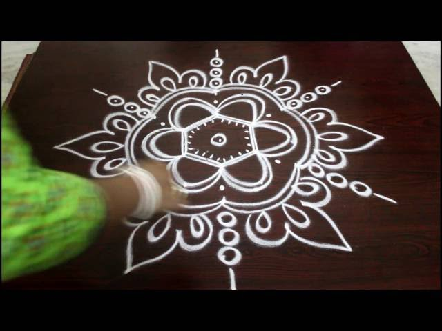 navaratri kolam with 5 to 3 dots-muggulu designs with dots-easy rangoli kolam designs with dots