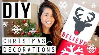 DIY Christmas Decorations! Cute + Easy Holiday Projects | Ariel Hamilton
