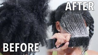 How To Detangle DRY MATTED THICK Natural Hair | NEW Detangling Routine