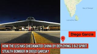 3 B-2 SPIRIT STEALTH BOMBER DEPLOYED DIEGO GARCIA - CHINA IS IN ITS RANGE & IS DEFENSELESS !