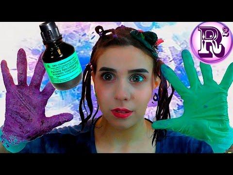 Как покрасить волосы ЯРКО дома/✔Фиолетовое Омбре с Зелёнкой✔/не Тоника/  Crazy Ombre Hair#Rola Roys