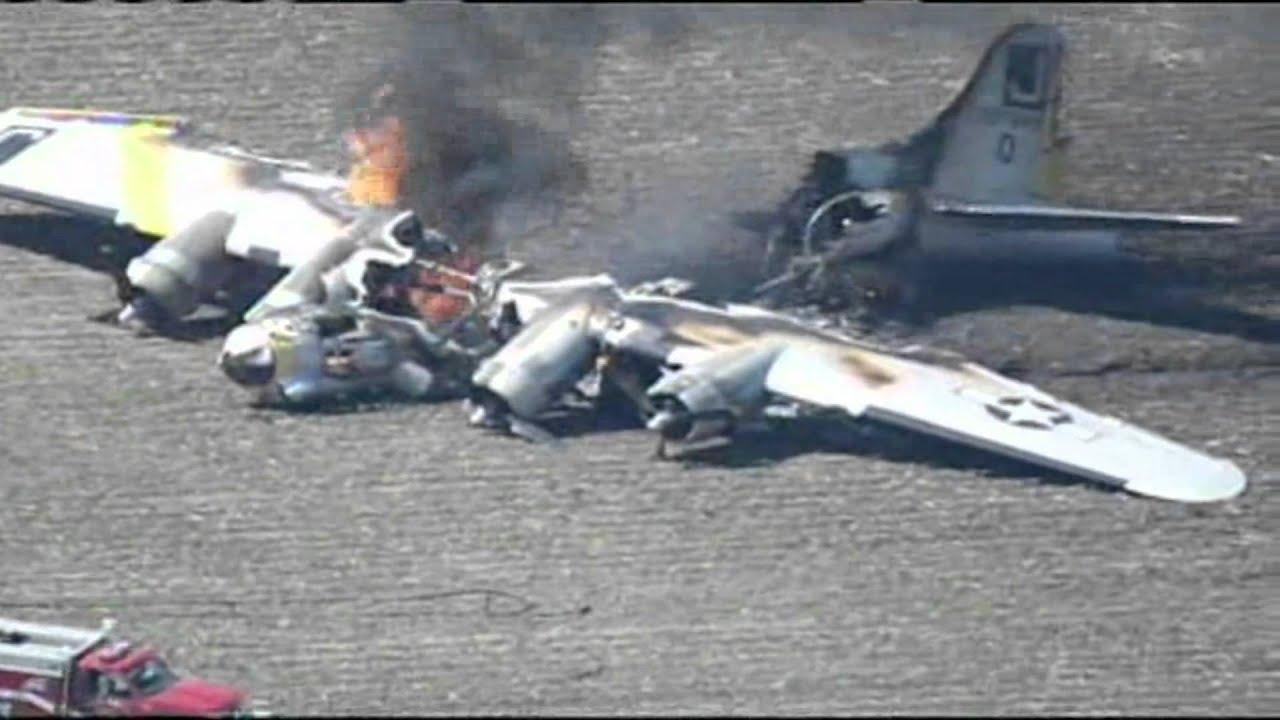 B-17 World War II WWII Bomber Airplane Crashes Near ...