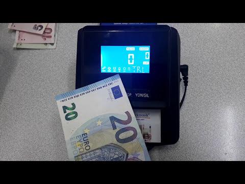 DP-2258 LCD Sahte Para Kontrol Makinesi TL - EURO