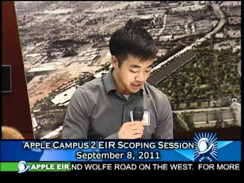 Apple EIR Scoping Session, 9/8/2011