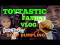 TOYTASTIC family VLOG! Family BIRTHDAY PARTY! Dinner with SOUP DUMPLINGS! Kaia FIRST DAY interview!