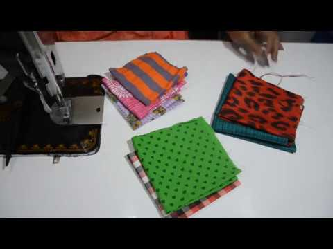 DIY TOTE BAG WITH MULTICOLOUR PATCH / बचे हुए कपड़ों का एक ...
