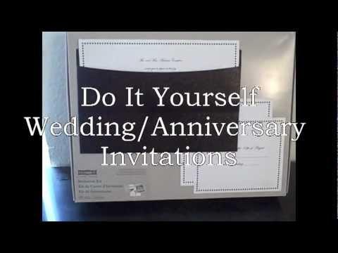57 do it yourself wedding anniversary invitations youtube 57 do it yourself wedding anniversary invitations solutioingenieria Choice Image