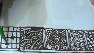 Henna Patterns For Beginners Step By Step Tutorial: Filling Pattern