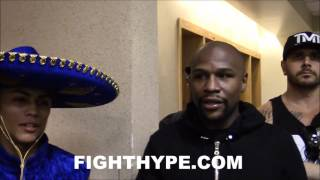 FLOYD MAYWEATHER GIVES DANNY GONZALEZ A WAD OF $100'S AFTER PRO DEBUT; GONZALEZ REACTS TO WIN