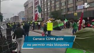 El presidente de la Cámara de Comercio, Servicios y Turismo de la Ciudad de México, Nathan Poplawsky, hizo un llamado a las autoridades a no permitir más bloqueos de calles principales
