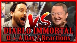 Diablo Immortal Blizzcon 2018 Q + A Reactions Day 2