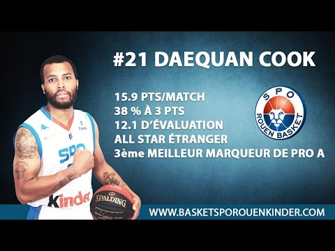 Daequan Cook (#21) - Highlights Pro A 2014/15 - SPO Rouen