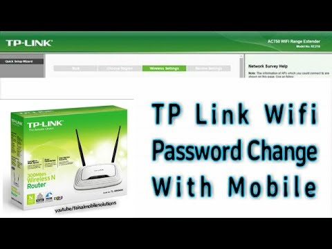 How To CHange TP Link Wifi Password Wifi Router password New Method 2017...