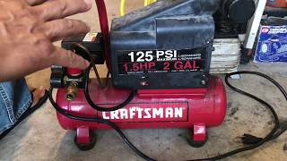 How to fix air compressor that doesn't build the air