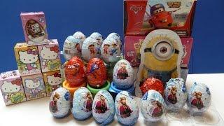 Trứng Sôcola Hello Kitty Bất Ngờ Xe Hơi Lightning McQueen Minion(Bí Đỏ)헬로 키티 초콜릿 깜짝 계란 자동차 영화