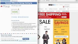 Macy's Coupon Code 2013 - How to use Promo Codes and Coupons for Macys.com