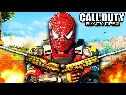 SPIDERMAN PLAYS BLACK OPS 3! (Epic Ninja Montage Trolling on Call of Duty)