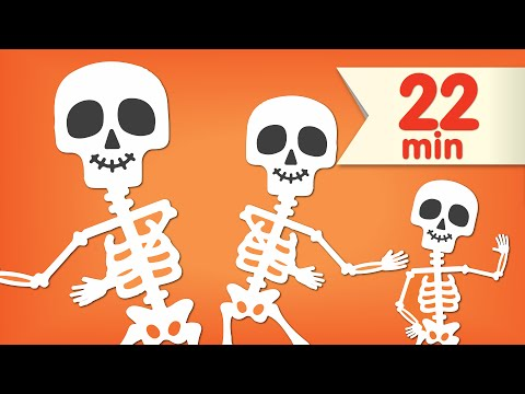 The Skeleton Dance + More | Dance Songs for Kids |...