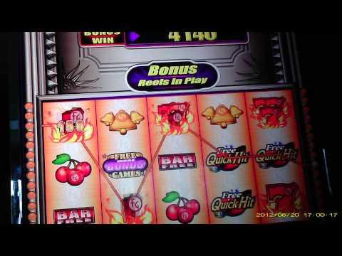 Quick Hits platinum free spins bonus live play casino slot MAX BET