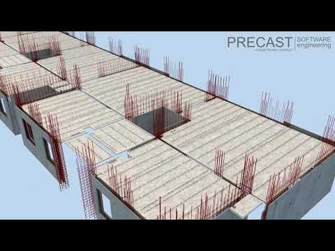 Precast Software PLANBAR: high rise building