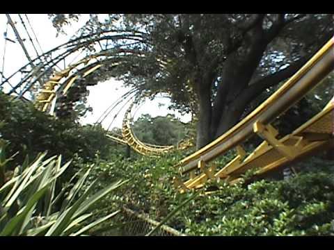 Python arrow corkscrew roller coaster pov onride busch - Busch gardens tampa roller coasters ...