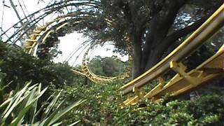 Python Arrow Corkscrew Roller Coaster POV Onride Busch Gardens Tampa Ron Toomer