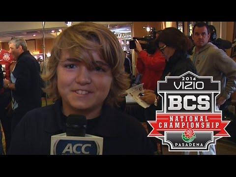 Jimbo Fisher's Son Trey Takes Over BCS Media Day | FSU's Road To The BCS Championship
