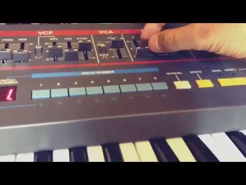 ROLAND JUNO-106 Arpeggio Sound using  Ableton Live 9 and Push