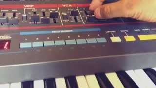 ROLAND JUNO-106 Arpeggio Sound using  Ableton Live 9 and Push