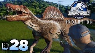 SAVING THE SPINOSAURUS!!! - Jurassic World Evolution FULL PLAYTHROUGH | Ep28 HD