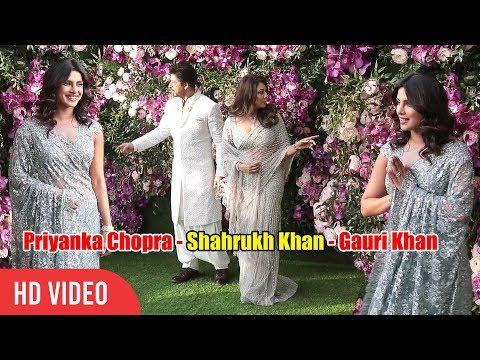 Shahrukh Khan, Gauri Khan and Priyanka Chopra at Shloka and Akash Ambani Wedding