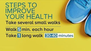 Walking less than two hours a week could prolong your life