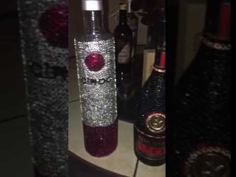 Bedazzled Remy Martin Amp Ciroc Bottle YouTube