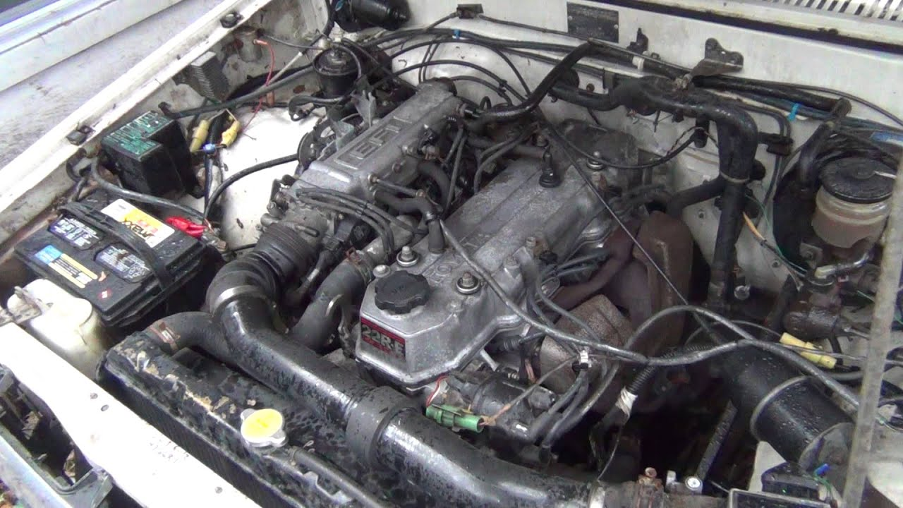 1985 Toyota 22RE Fuel Injection Engine - YouTube
