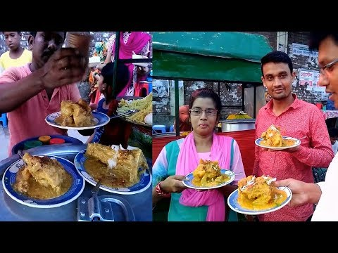 Best Street Food, Roadside Popular Street Food Shahi Haleem @ Tk 60, People Enjoying Delicious Food