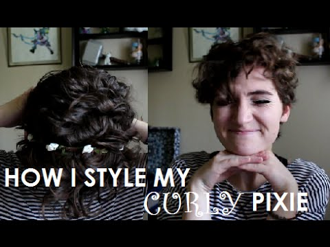 How I Style My Naturally Curly Pixie Cut Youtube