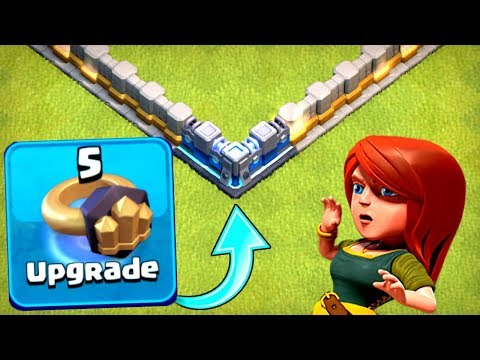 UPGRADING FIRST EVER LEVEL 13 WALL IN CLASH OF CLANS!