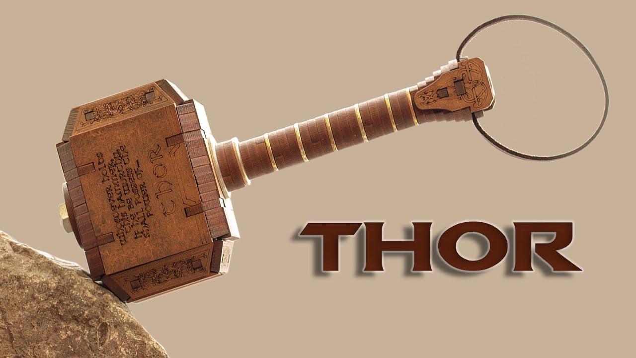 Cómo Diseñar Y Ensamblar El Martillo De Thor En Corte Laser Youtube