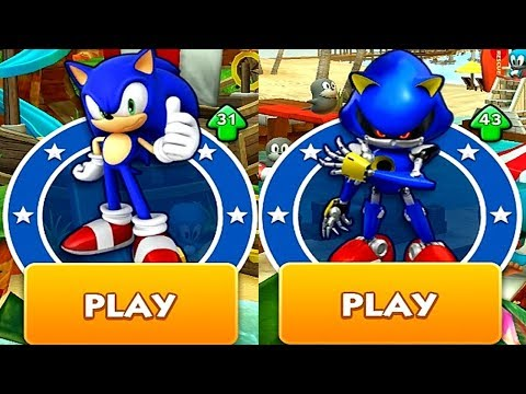Sonic Dash SONIC VS METAL SONIC Android IPad IOS Gameplay